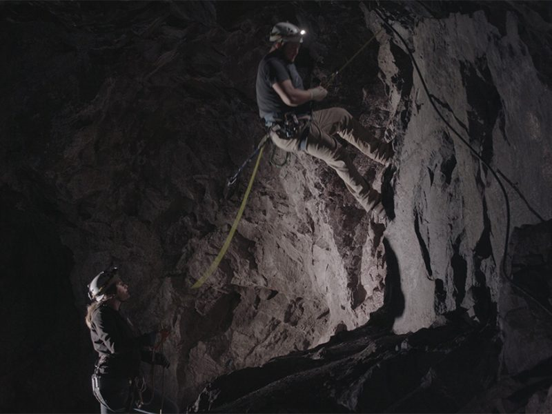 Adventure-Mine-Guides-Rappelling-into-lower-level-of-the-mine-3